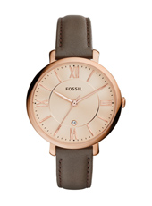 ES3707 Jacqueline 36mm Rose Gold Watch on Brown Strap