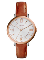 ES3842 Jacqueline 36mm Rose ladies watch on brown leather strap