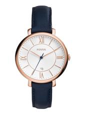 ES3843 Jacqueline 36mm Rose gold ladies watch with blue leather strap