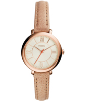 ES3802 Jacqueline Mini 26mm Rose gold ladies watch on pink leather strap