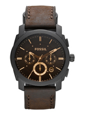 Machine Medium 42mm Brown & Black Chrono with Date, leather strap