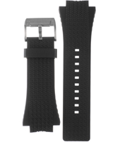 ME3004 22mm Black Rubber Strap