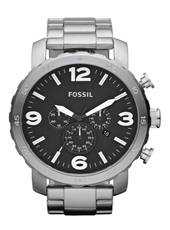 Fossil Nate-Black-&-Steel JR1353 - 2012 Spring Summer Collection