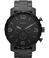 JR1401 Nate  49mm Large All Black Chrono with Date