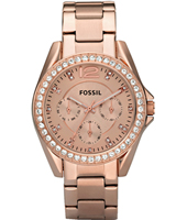 ES2811 Riley 38mm Rose Gold Multifunction Ladies watch with Crystals