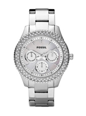 Stella 37mm Silver Ladies Watch with Crystals