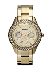 Stella 37mm Gold Ladies Watch with Crystals