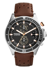 Wakefield 45mm Black & Brown Chronograph with Date