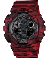 Camouflage 51.20mm Red camouflage ana-digi G-Shock watch