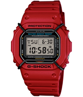 Classic 42.80mm Red Square Digital G-Shock Watch
