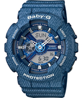 BA-110DC-2A2ER Denim'D Color 43.40mm Denim Blue Ladies G-shock Watch
