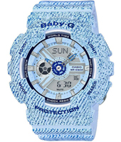 BA-110DC-2A3ER Denim'D Color 43.40mm Denim Blue Ladies G-shock Watch