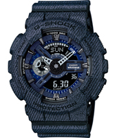 GA-110DC-1AER Denim'D Color 51.20mm Large Blue Ana-Digi G-Shock Watch
