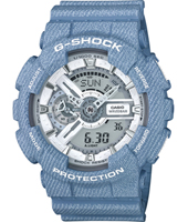 GA-110DC-2A7ER Denim'D Color 51.20mm Large Blue Ana-Digi G-Shock Watch