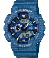 GA-110DC-2AER Denim'D Color 51.20mm Large Blue Ana-Digi G-Shock Watch