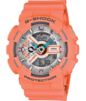 GA-110DN-4AER Dusty Neon 51.20mm Pink analog-digital ladies watch with resin strap