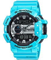 GBA-400-2CER G-Mix Bluetooth 51.90mm Turquoise Watch with Smartphone Link