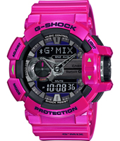 GBA-400-4CER G-Mix Bluetooth 51.90mm Pink Watch with Smartphone Link