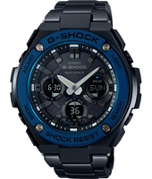 G-Steel 52.40mm Radio Controlled Steel Ana-Digi Solar Powered Watch