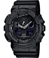 GA-100-1A1ER  51.20mm Big Black Ana-Digi G-Shock Watch