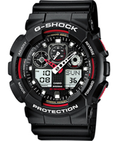 GA-100-1A4ER  51.20mm Big Black & Red Ana-Digi G-Shock Watch
