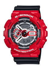 GA-110RD-4AER Solid Red 51.20mm Large Ana-Digi G-Shock Watch