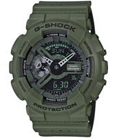 GA-110LP-3AER Special Layered Color Models 51.20mm Green ana-digi G-Shock watch