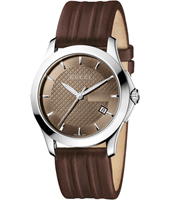 Gucci G-Timeless-Medium-Brown-Leather YA126403 - 2012 Fall Winter Collection