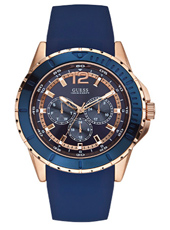 Maverick 46mm Blue & rose gold multifunction gents watch