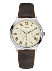 Wafer 39.40mm Classic Steel & Brown Gents Watch with DayDate