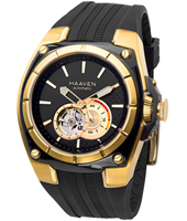 Haaven Automatic-Rubber-Black-Strap-IPR-Gold 9101-04 -