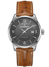 Jazzmaster Viewmatic 44mm Steel Automatic Watch with Date & Open Back