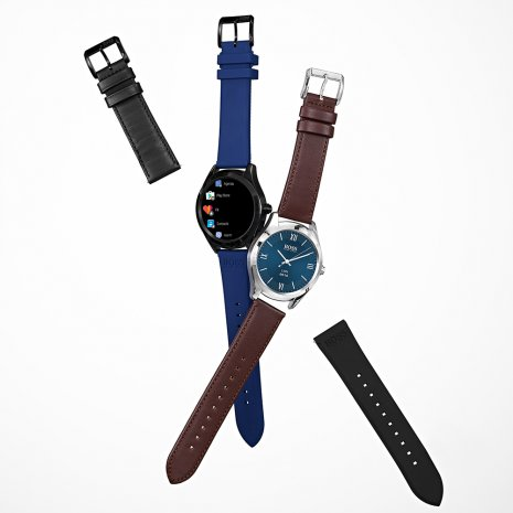 Steel Gents SmartWatch with Leather Strap Fall Winter Collection Hugo Boss