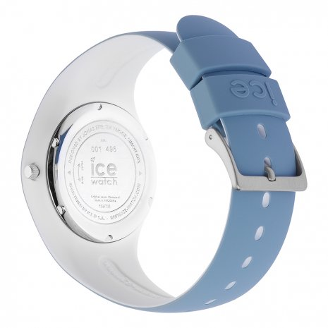 Blue & White Silicone Watch Size Medium Spring Summer Collection Ice-Watch