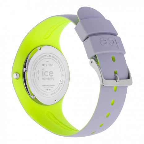 Light Grey & Yellow Silicone Watch Size Medium Spring Summer Collection Ice-Watch