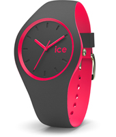 Ice-Duo 41mm Anthracite & Pink Silicone Watch