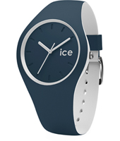 DUO.ATL.U.S.16 Ice-Duo 41mm Blue & White Silicone Watch