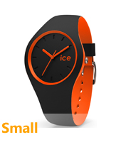DUO.BKO.S.S.16 Ice-Duo 34mm Black & Orange Silicone Watch