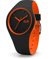 DUO.BKO.U.S.16 Ice-Duo 41mm Black & Orange Silicone Watch