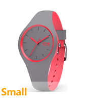 DUO.DCO.S.S.16 Ice-Duo 34mm Grey & Pink Silicone Watch