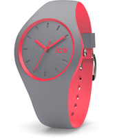 DUO.DCO.U.S.16 Ice-Duo 41mm Grey & Pink Silicone Watch