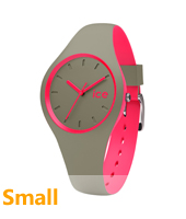 DUO.KPK.S.S.16 Ice-Duo 34mm Khaki & Pink Silicone Watch