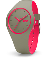 DUO.KPK.U.S.16 Ice-Duo 41mm Khaki & Pink Silicone Watch