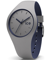 012974 Ice-Duo Winter 35mm Black &  Grey Silicone Quartz Watch