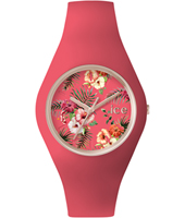 Ice-Flower Delicious Rose gold watch with pink silicone strap