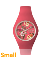 Ice Flower Delicious Small Rose gold watch with pink silicone strap