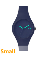 Ice-Forest Dark blue silicone watch, size small
