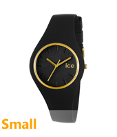 Ice-Glam Black & Gold Watch, size Small