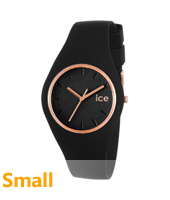 Ice-Glam Black & Rose Gold watch size Small