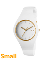 Ice-Glam White & Gold watch size Small
